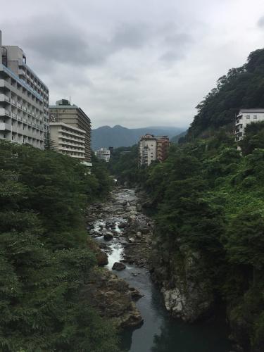 鬼怒川と温泉街