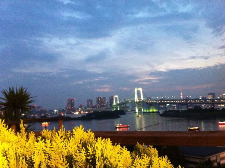 レインボーブリッジと東京湾