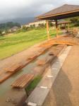 桜島溶岩なぎさ公園、足湯