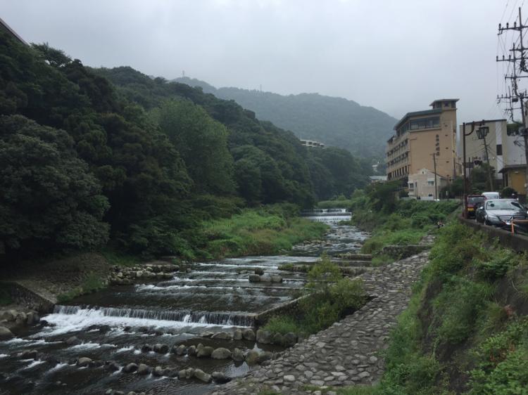 箱根湯本 早川沿い
