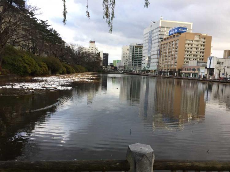 千秋公園のお堀