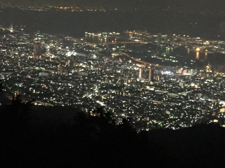摩耶山山頂からの夜景
