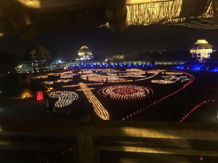 吉野ヶ里歴史公園ライトアップイベント時