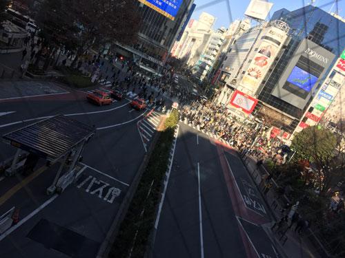 マークシティと渋谷駅の連絡通路より