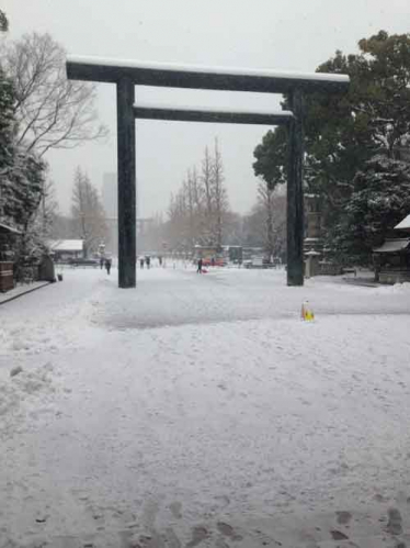 冬の靖国神社