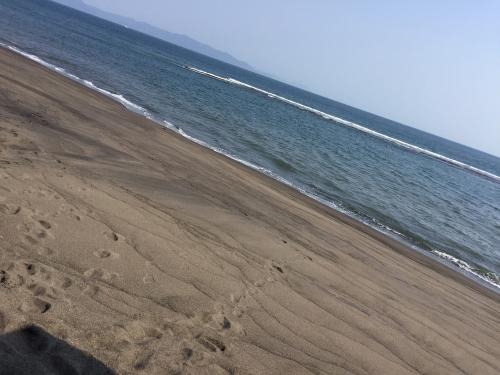 この海岸の砂に埋められる形の温泉