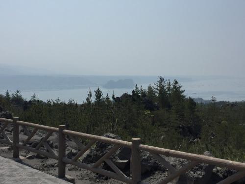 有村溶岩展望所から垂水市方面