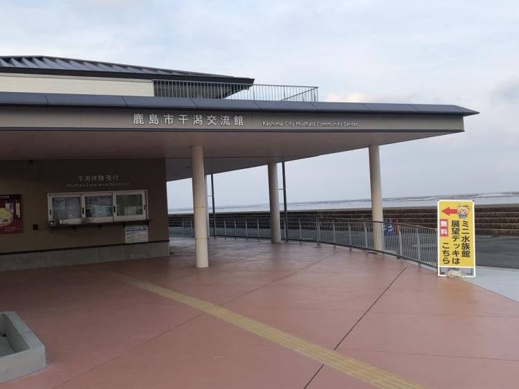 ミニ水族館、干潟体験受付