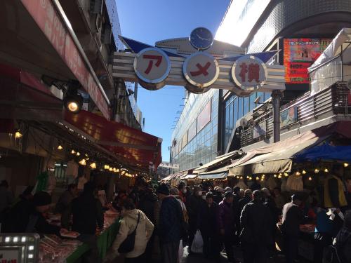 上野駅側のアメ横通り入り口付近