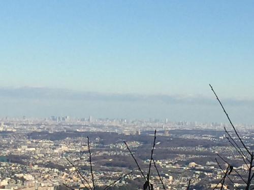 高尾山からみた東京