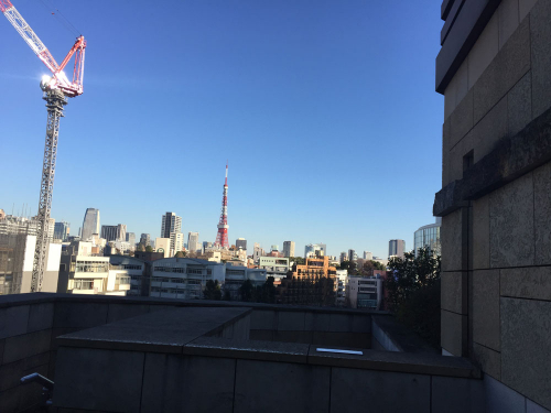 2Fテラスからみる東京タワー