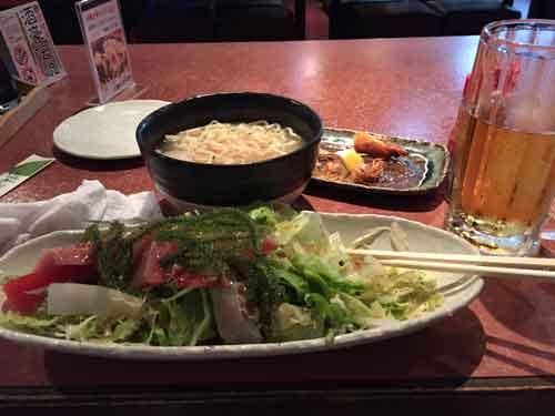 沖縄そば 海ブドウ オリオンビール