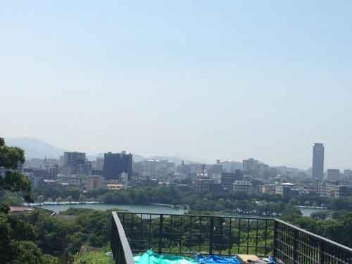 福岡城跡からの風景