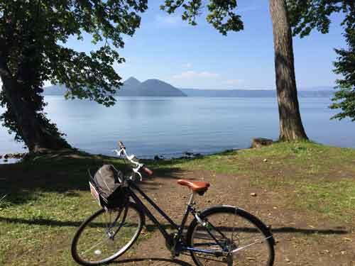サイクリングで湖を1周