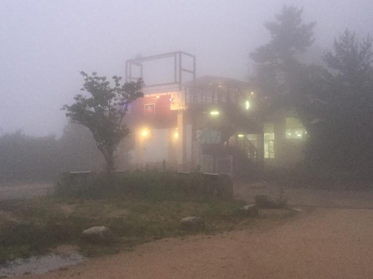 山頂のロープーウェイ駅
