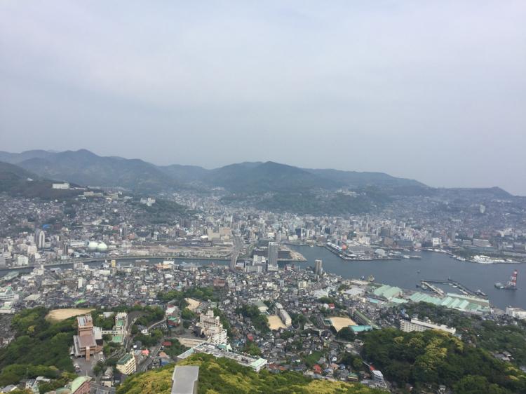 昼間の稲佐山からの景色