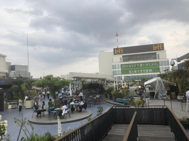 池袋駅空中庭園