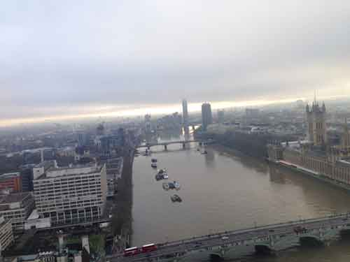 ロンドンアイから見た景色
