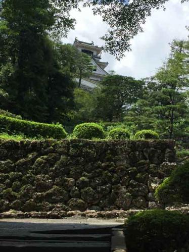 高知城と石垣