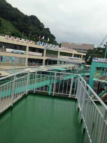 桜島側乗船乗り場