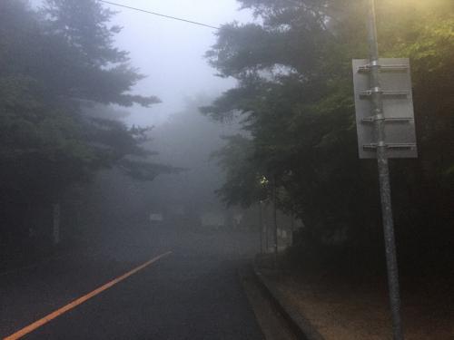 駐車場から展望台へ向かう道