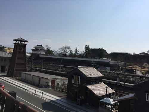 甲府城、甲府駅付近