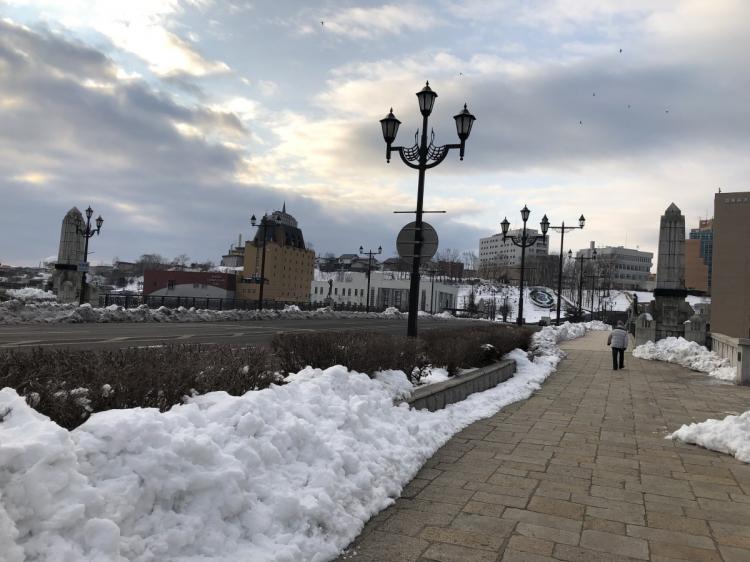 冬の町の様子