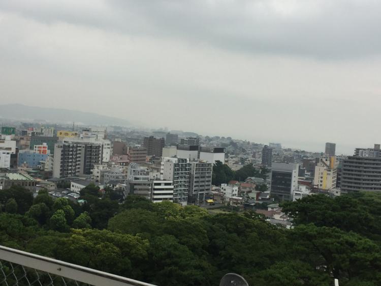 小田原城天守閣よりの景色