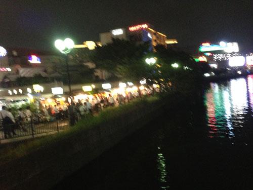 中州、那珂川通り、清流公園付近の屋台街