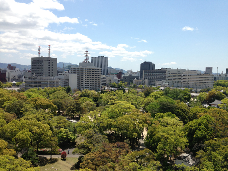 広島城天守閣よりの風景