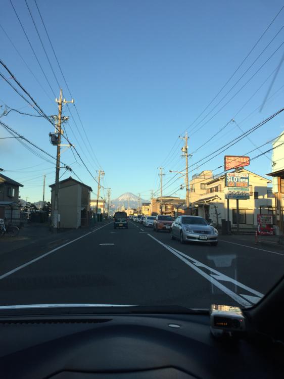 富士山と美保街道