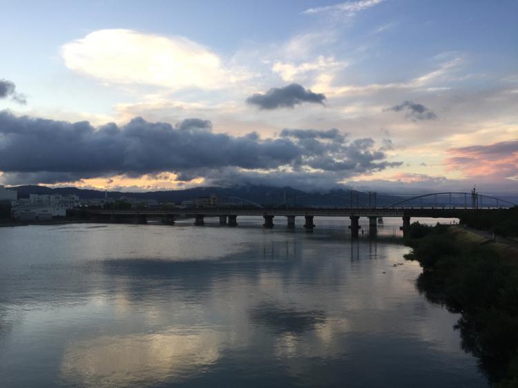 琵琶湖 瀬田川橋より