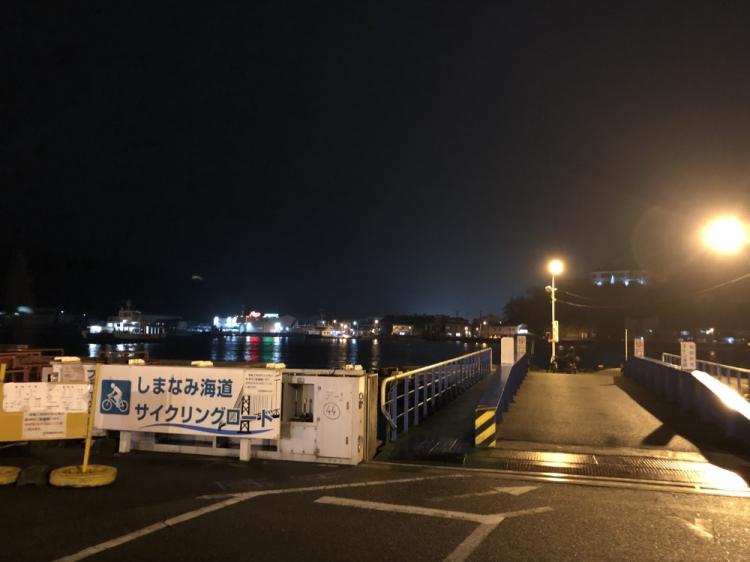 渡し舟が頻繁に通る夜景もきれい