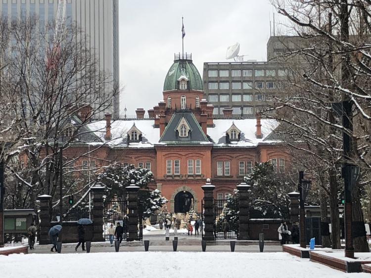 大通り公園の西端の札幌市資料館